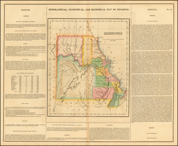 54-Plains and Missouri Map By Henry Charles Carey  &  Isaac Lea