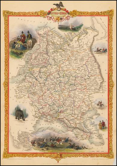 47-Russia and Ukraine Map By John Tallis