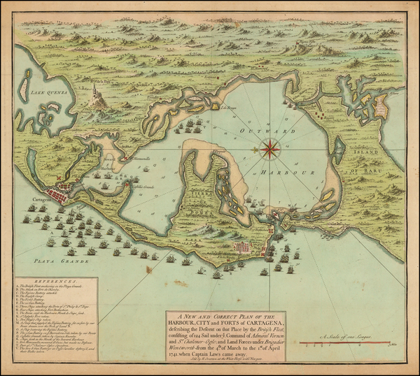96-Central America and Colombia Map By Henry Overton