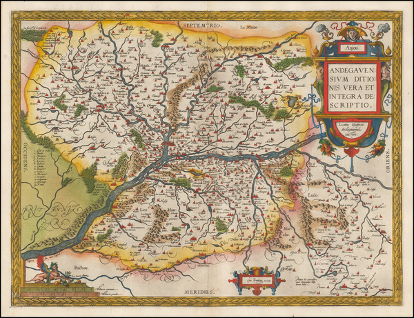 90-France Map By Abraham Ortelius