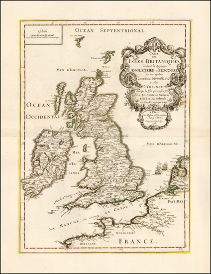 93-British Isles Map By J. Besson / Pierre Du Val