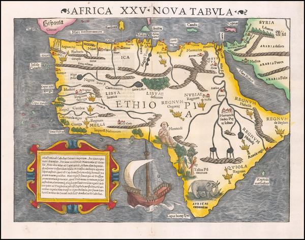 84-Africa Map By Sebastian Munster