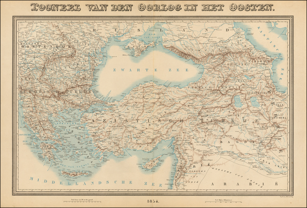 55-Balkans, Greece, Central Asia & Caucasus, Middle East and Turkey & Asia Minor Map By To