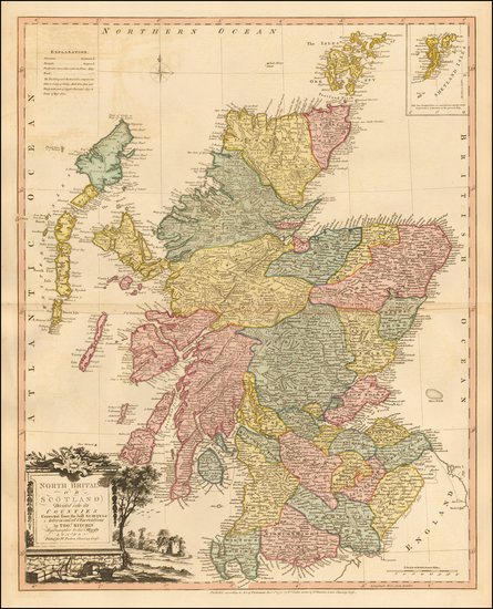 62-Scotland Map By William Faden