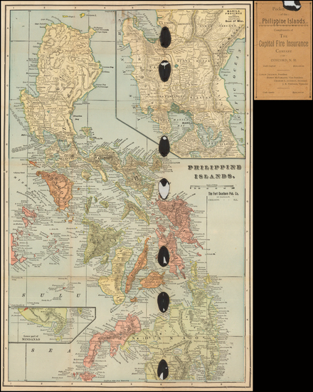 28-Philippines Map By The Fort Dearborn Publishing Co.