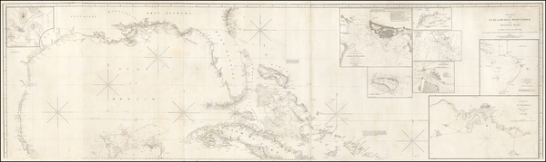 28-Florida, South, Texas and Caribbean Map By E & GW Blunt