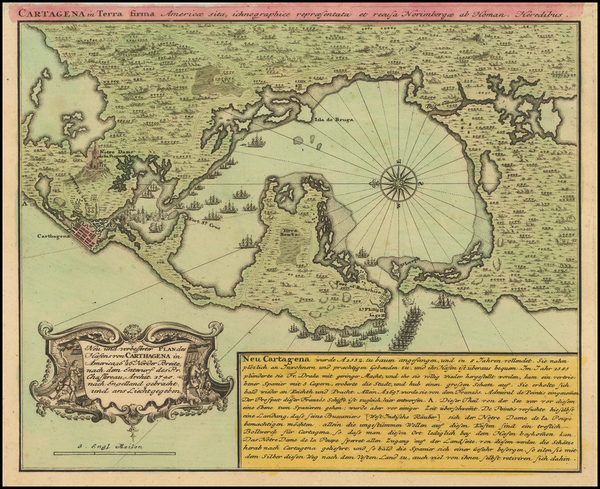 2-South America and Colombia Map By Homann Heirs