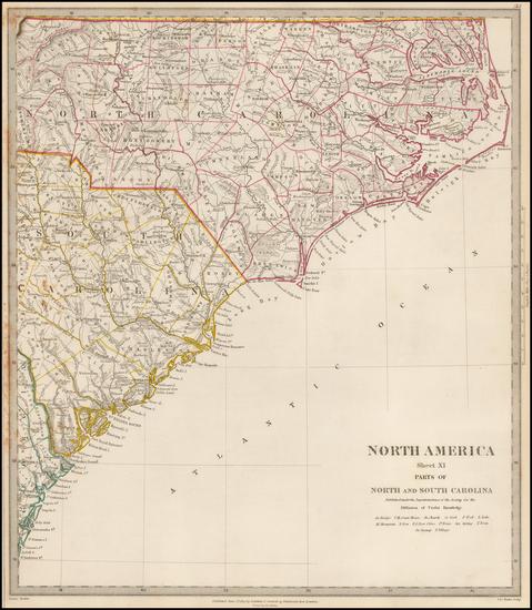 58-Southeast, North Carolina and South Carolina Map By SDUK