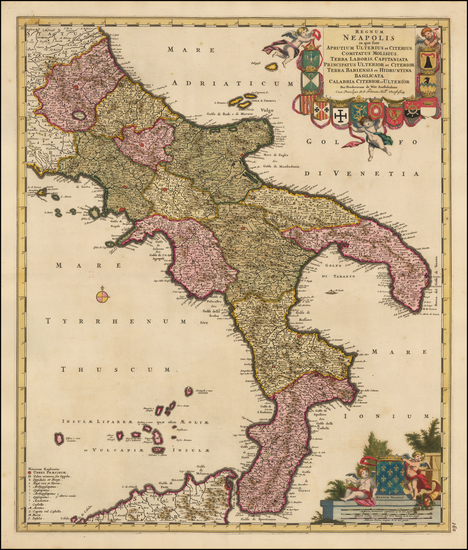 28-Italy and Southern Italy Map By Frederick De Wit