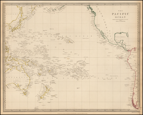 World, Pacific and Oceania Map By SDUK