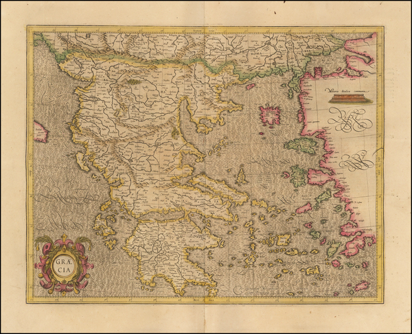 50-Greece Map By  Gerard Mercator