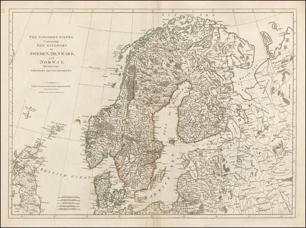 73-Scandinavia Map By Robert Sayer