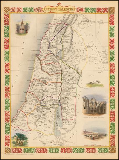 81-Holy Land Map By John Tallis