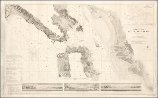 76-California and San Francisco Map By U.S. Coast Survey