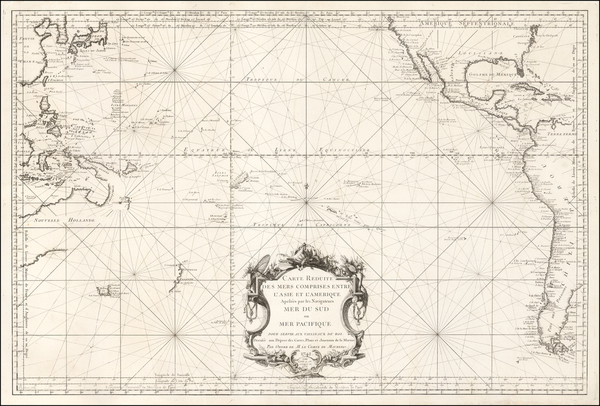 60-Australia & Oceania, Pacific, Australia and Oceania Map By Depot de la Marine