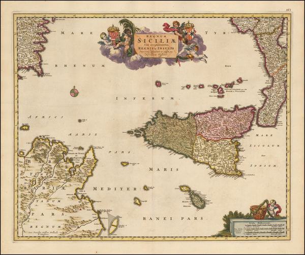 70-Italy and Southern Italy Map By Nicolaes Visscher I