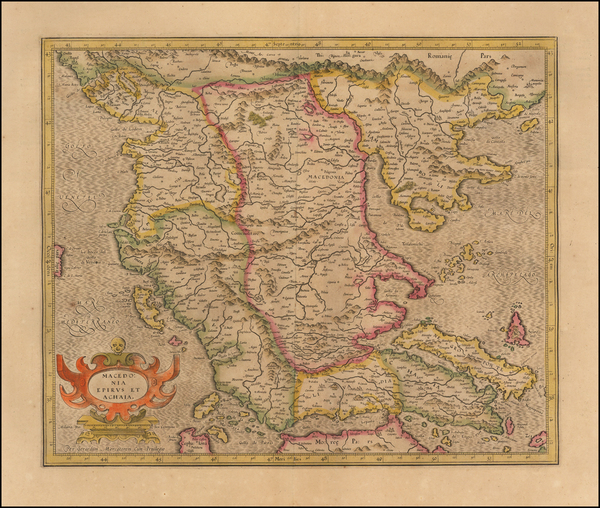 62-Balkans and Greece Map By  Gerard Mercator