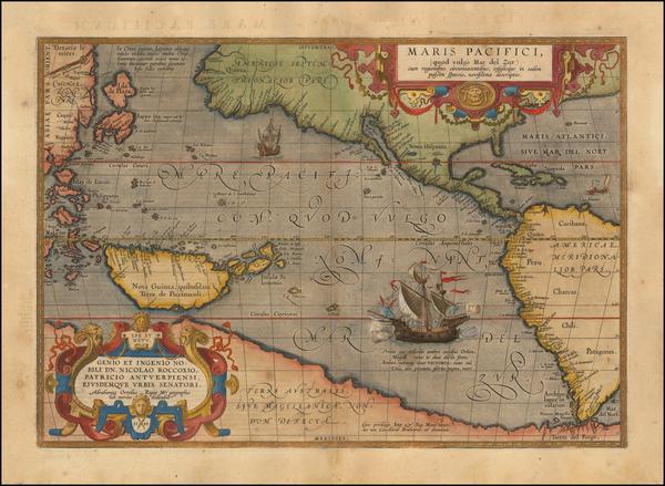 91-Western Hemisphere, Polar Maps, South America, Japan, Pacific, Australia, Oceania and America M