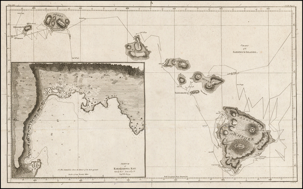 23-Hawaii and Hawaii Map By James Cook