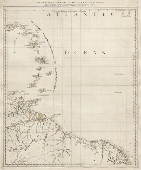 98-Caribbean and South America Map By Thomas Jefferys / William Faden