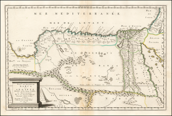 Egypt and North Africa Map By Nicolas Sanson
