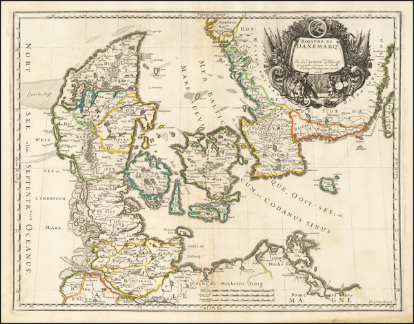 75-Scandinavia Map By Nicolas Sanson