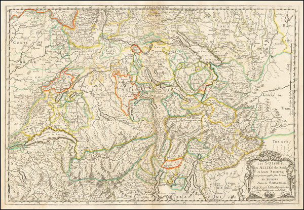 Switzerland Map By Nicolas Sanson