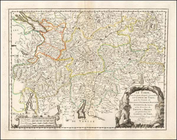 19-Austria Map By Nicolas Sanson