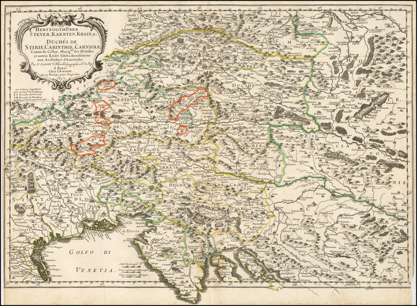 100-Austria and Balkans Map By Nicolas Sanson