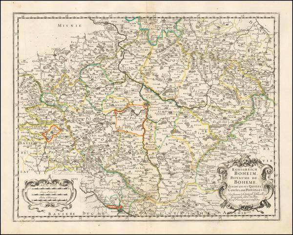 78-Czech Republic & Slovakia Map By Nicolas Sanson