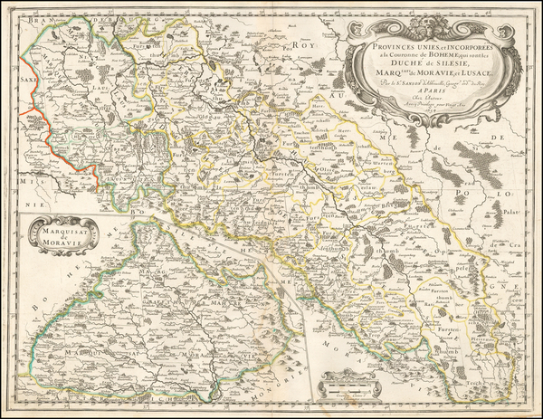 95-Czech Republic & Slovakia Map By Nicolas Sanson