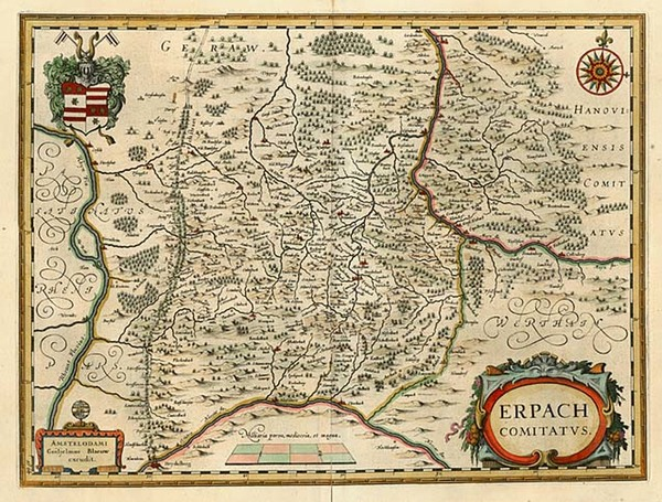 73-Europe and Germany Map By Willem Janszoon Blaeu