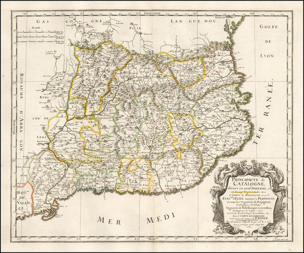 Spain Map By Nicolas Sanson