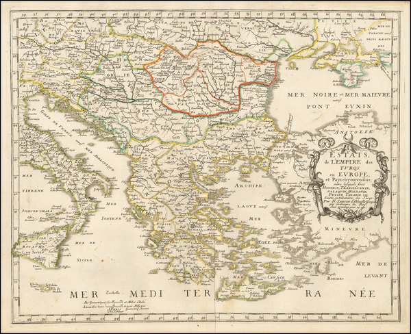 55-Greece and Turkey Map By Nicolas Sanson