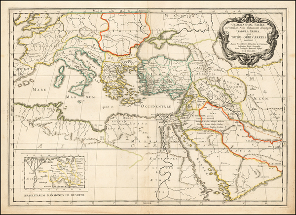 27-Holy Land and Egypt Map By Nicolas Sanson