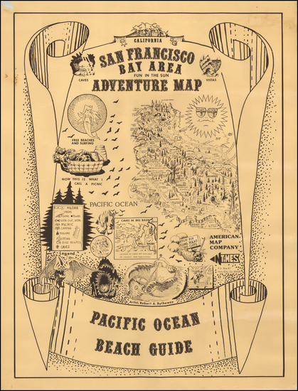 6-Pictorial Maps and California Map By Robert A. Bytheway