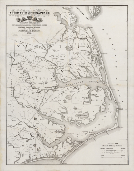78-Southeast and North Carolina Map By Hosford & Sons