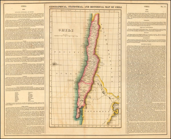 21-South America and Chile Map By Henry Charles Carey  &  Isaac Lea