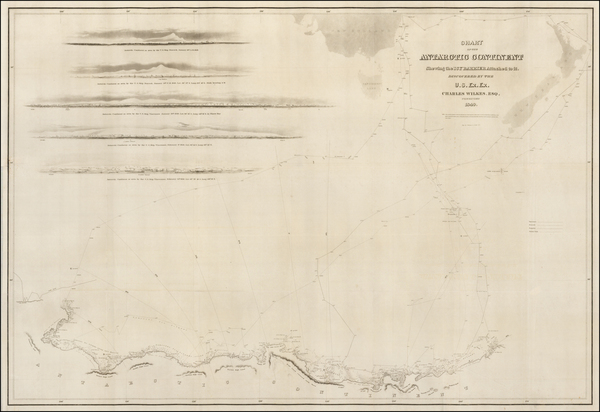 66-Polar Maps, Oceania and New Zealand Map By Charles Wilkes