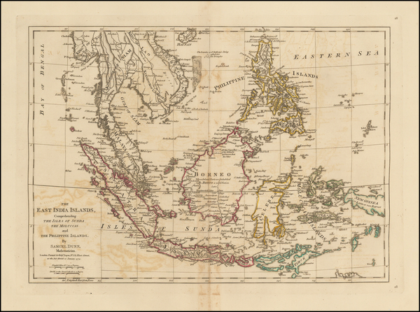 China, Southeast Asia and Philippines Map By Samuel Dunn