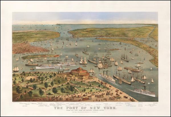 2-New York City Map By Nathaniel Currier  &  James Merritt Ives