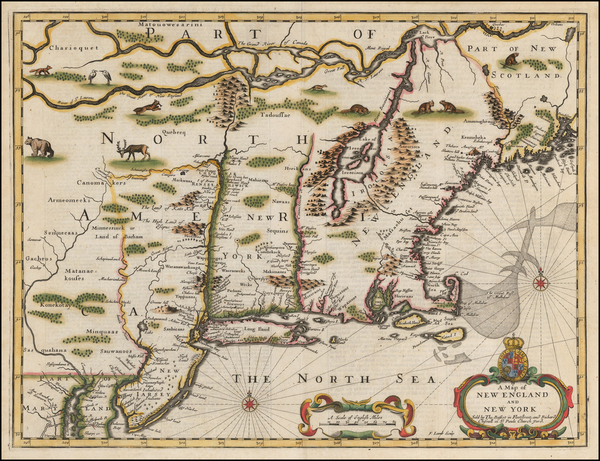 New England and Mid-Atlantic Map By John Speed