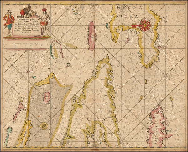86-Caribbean and Cuba Map By John Seller