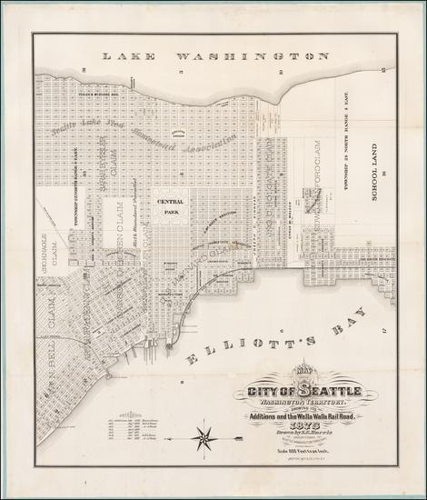 14-Washington Map By Sylvanus C. Harris