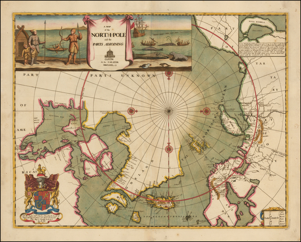 56-Polar Maps, Canada, Russia, Scandinavia and Russia in Asia Map By Moses Pitt