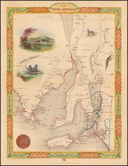 37-Australia Map By John Tallis