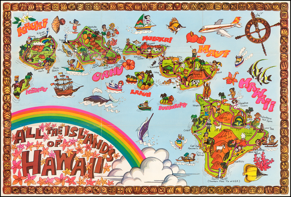 81-Hawaii and Hawaii Map By Anonymous