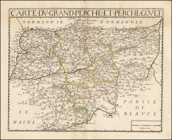 61-France Map By Jean Le Clerc / Hugues Picart