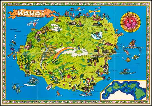 13-Hawaii and Hawaii Map By Anonymous