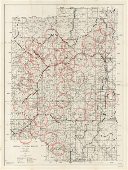 97-Rocky Mountains and Idaho Map By U.S. Department of Agriculture